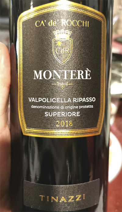 Tinazzi CA' de' Rocchi Montere Valpolicella Ripasso superiore 2018 Красное вино отзыв
