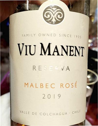 Viu Manent Malbec Rose reserva 2019 Розовое вино отзыв