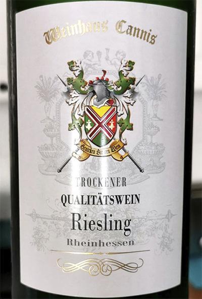 Weinhaus Cannis Riesling Trocken Rheinhessen 2018 Белое вино отзыв
