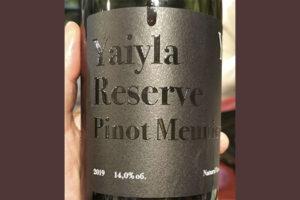 Yaiyla Pinot Meunier Reserve Natural Yeast 2019 Красное вино отзыв