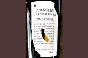770 Miles Zinfandel California 2018 Красное вино отзыв