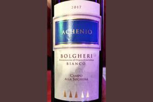 Campo alla Suchera Archenio Bolgheri bianco 2017 Белое вино отзыв