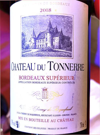 Chateau du Tonnerre Bordeaux Superieur 2018 Красное вино отзыв