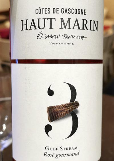 Haut Marin Elisabeth Prataviera 3 Gulf Stream Rose Gourmand Cotes de Gascogne 2019 Розовое вино отзыв
