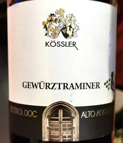 Kossler Gewurztraminer Alto Adige Sudtirol 2019 Белое вино отзыв