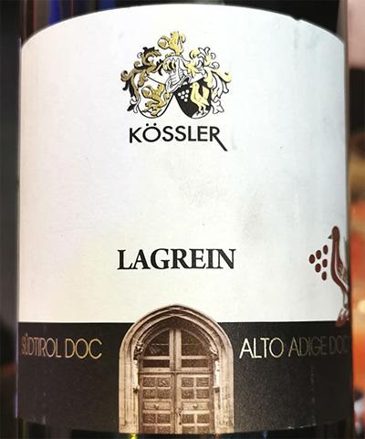 Kossler Lagrein Alto Adige Sudtirol 2018 Красное вино отзыв