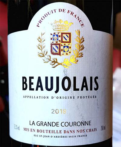 La Grande Couronne Beaujolais 2018 Красное вино отзыв