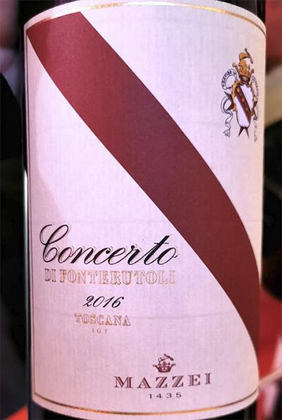 Mazzei Concerto di Fonterutoli Toscana 2016 Красное вино отзыв