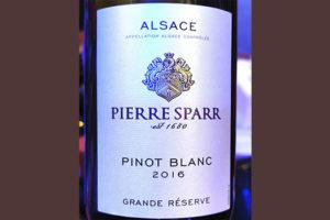 Pierre Sparr Pinot Blanc Grande Reserve Alsace 2016 Белое вино отзыв