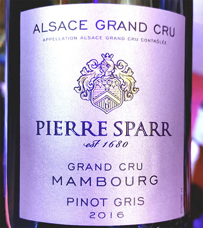 Pierre Sparr Pinot Gris Grand Mambourg Alsace Grand Cru 2016 Белое вино отзыв