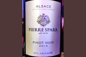 Pierre Sparr Pinot Noir Sol Calcaire 2014 Красное вино отзыв