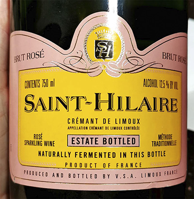 Saint-Hilaire Cremant de Limoux Brut Rose methode traditionelle Отзыв об игристом вине
