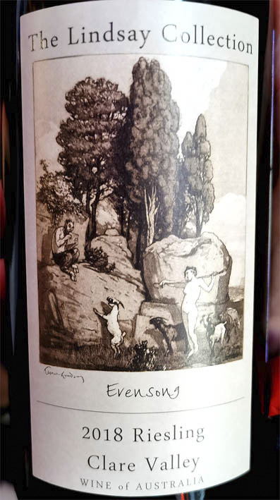 The Lindsay Collection Riesling Evensong Clare Valley Australia 2018 Белое вино отзыв