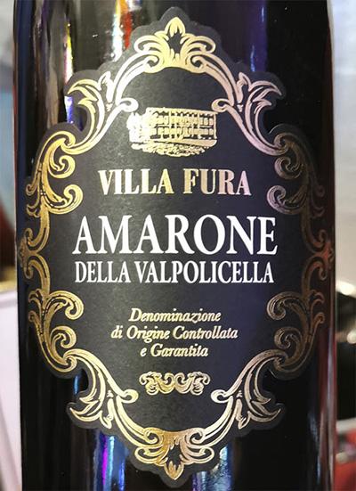 Villa Fura Amarone della Valpolicella 2016 Красное вино отзыв