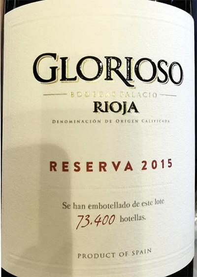 Bodegas Palacio Glorioso Reserva Rioja 2015 Красное вино отзыв