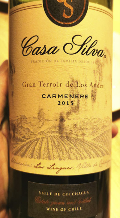 Casa Silva Carmenere Gran Terroir de Los Andes 2015 Красное вино отзыв