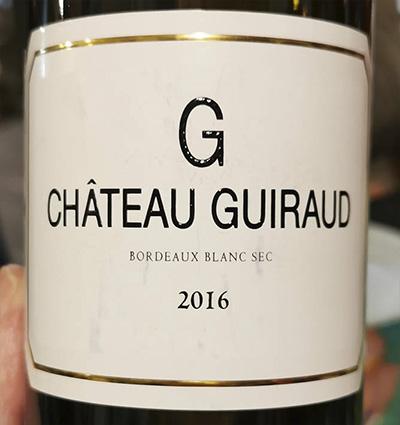 Chateau Guiraud Bordeaux blanc 2016 Белое вино отзыв