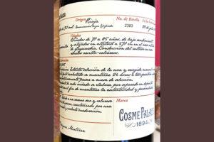 Cosme Palacio Marca 1894 tinto Cosecha 2015 Красное вино отзыв