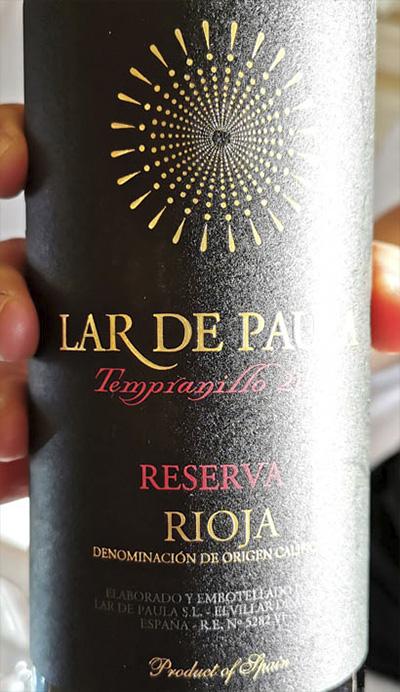 Lar de Paula Tempranillo Reserva Rioja 2011 Красное вино отзыв