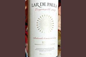 Lar de Paula Tempranillo Rioja 2017 Красное вино отзыв