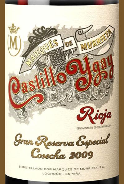Marques de Murrieta Castillo Ygay Gran Reserva Espicial Cosecha Rioja 2009 Красное вино отзыв