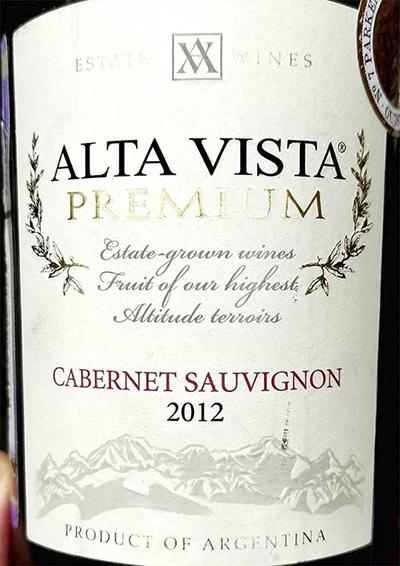 Alta Vista Premium Cabernet Sauvignon 2012 Красное вино отзыв