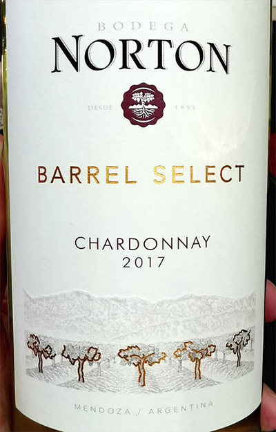 Bodega Norton Barrel Select Chardonnay 2017 Белое вино отзыв