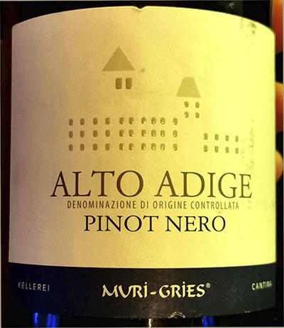 Cantina Muri-Gries Pinot Nero Alto Adige 2018 Красное вино отзыв