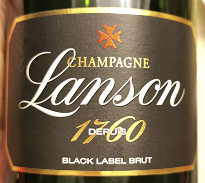 Champagne Lanson Black Label brut 1760 Отзыв о шампанском вине