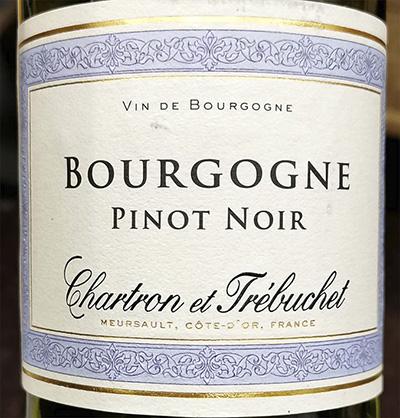 Chartron et Trebuchet Bourgogne Pinot Noir 2018 Красное вино отзыв