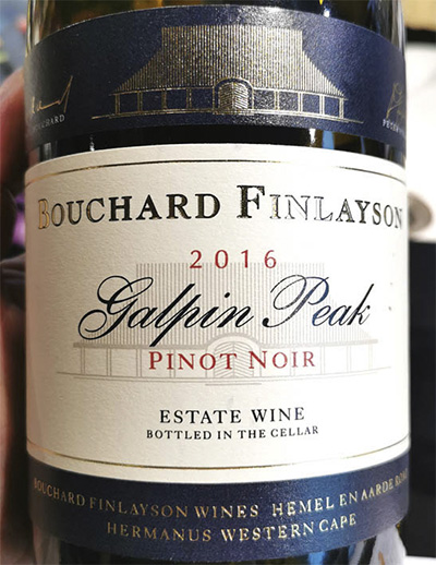 Bouchard Finlayson Galpin Peak Pinot Noir 2016