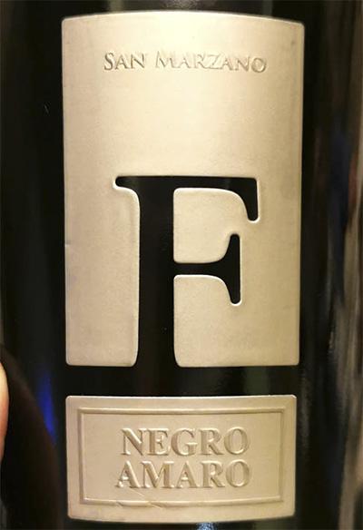 Feudi di San Marzano F Negroamaro 2017 Красное вино отзыв