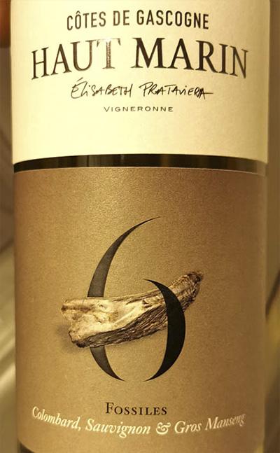 Haut Marin 6 Fossiles Cotes de Gascogne Colombard Sauvignon Gros Manseng 2019 Белое вино отзыв