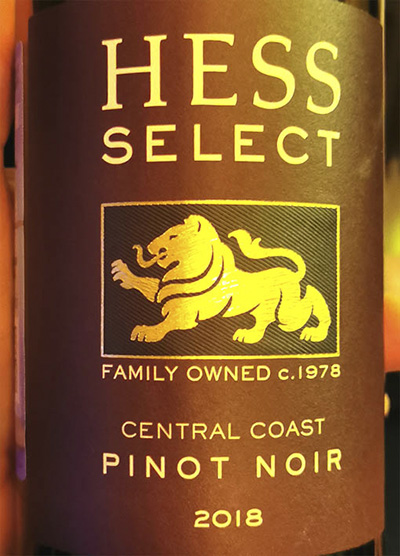 Hess Select Pinot Noir Central Cost 2018 Красное вино отзыв