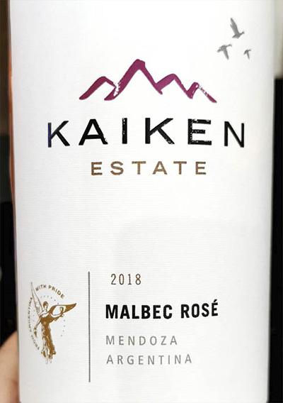 Kaiken Estate Malbec Rose Mendoza Argentina 2018 Розовое вино отзыв