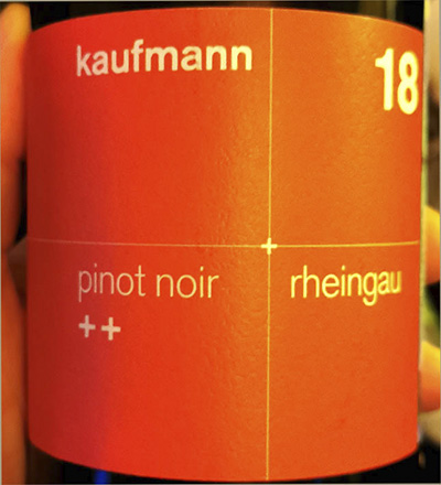 Kaufmann Pinot Noir Rheingau 2018 Красное вино отзыв
