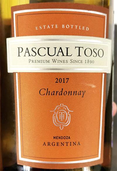 Pascual Toso Chardonnay Mendoza Argentina 2017 Белое вино отзыв
