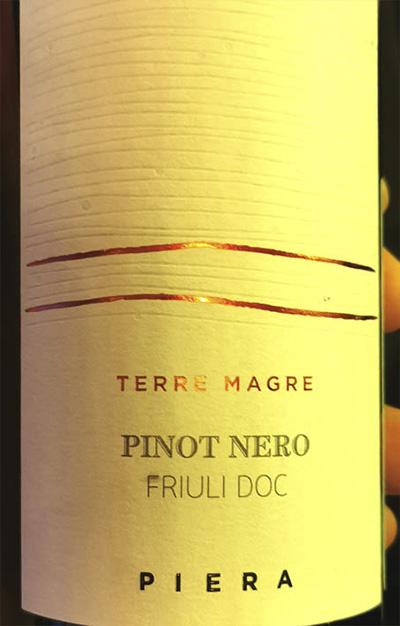 Piera Martellozzo Terre Magre Pinot Nero Friuli DOC 2018 Красное вино отзыв