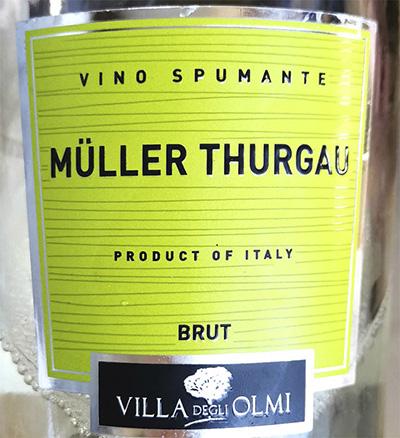Villa degli Olmi Muller Thurgau Brut vino spumante Игристое вино отзыв