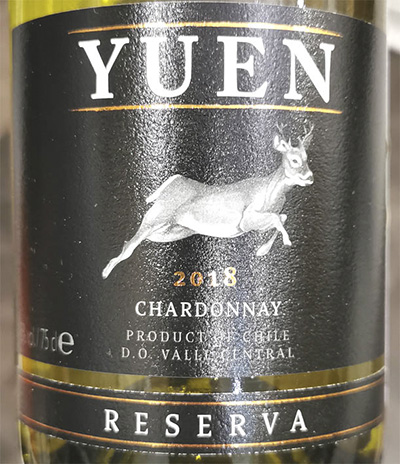 Yuen Chardonnay Reserva Valle Central Chile 2018 Белое вино отзыв