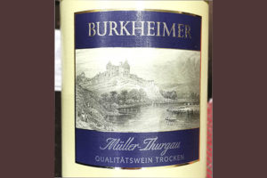 Burkheimer Muller Thurgau Qualitatswein Trocken 2019 Белое вино отзыв