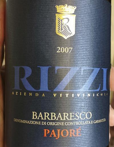 Cantina Rizzi Pajore Barbaresco 2007 Красное вино отзыв