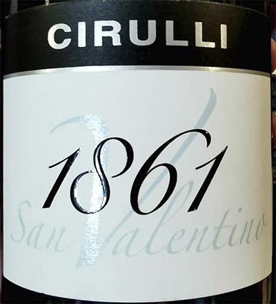 Cirulli 1861 San Valentino 2012 Красное вино отзыв
