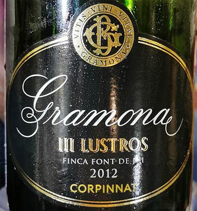 Corpinnat Gramona III Lustros Finca Font de Jui 2012 Игристое вино отзыв