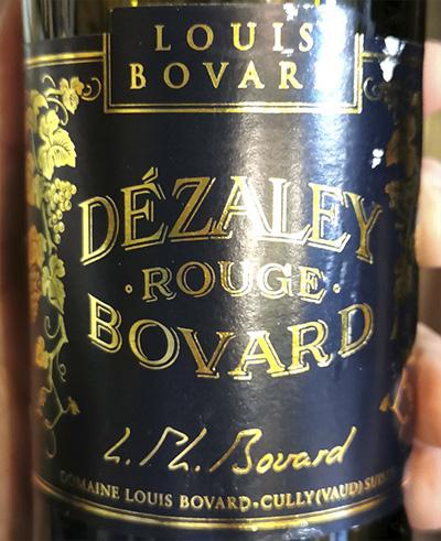 Domaine Louis Bovard Dezaley Grand Cru Bovard rouge 2017 Красное вино отзыв