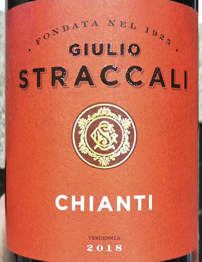 Giulio Straccali Chianti 2018 Красное вино отзыв