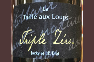 Jacky et J.P.Blot Triple Zero Taille aux Loups 2018 Игристое вино отзыв
