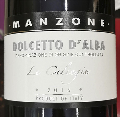 Manzone Le Ciliegie Dolcetto d'Alba 2016 Красное вино отзыв