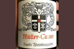 Muller-Catoir Haardt Weiiseburgunder 2017 Белое вино отзыв