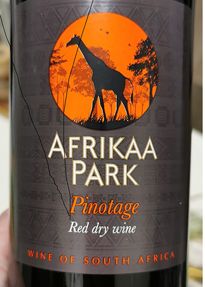 Perdeberg Afrikaa Park Pinotage 2019 Красное вино отзыв